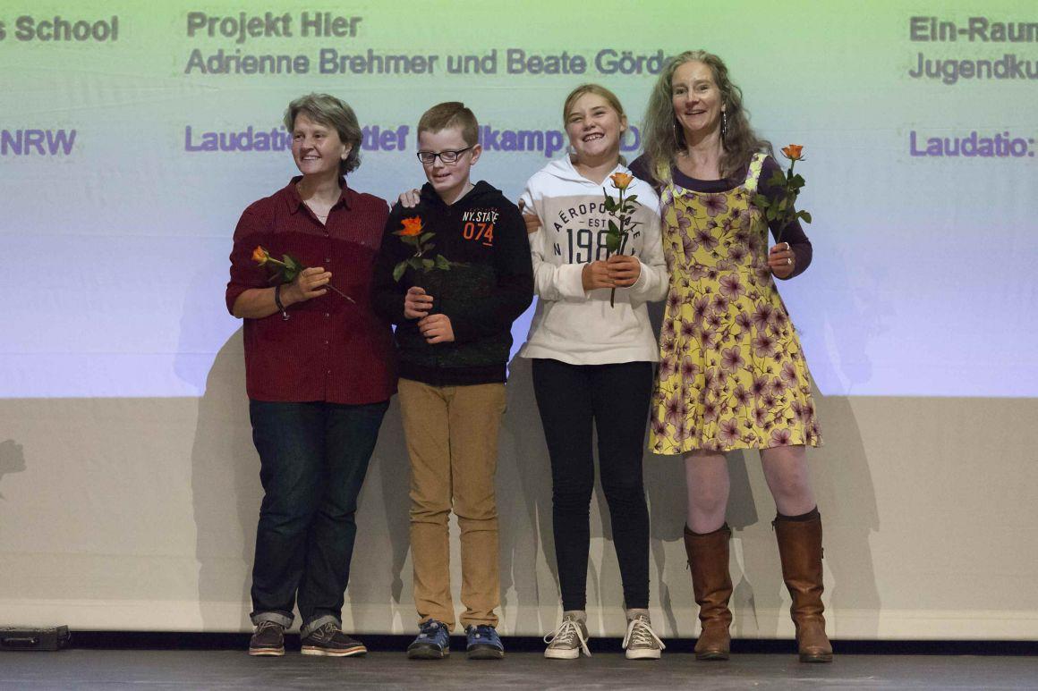 Preisverleihung Kinderkulturpreis NRW 2018, Foto: Hanne Brandt